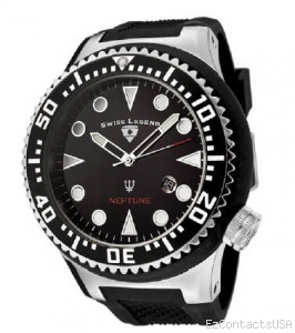 Swiss Legend Neptune Diver Steel 21818 - Swiss Legend