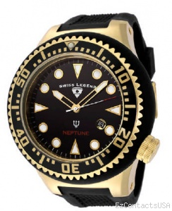 Swiss Legend Neptune Diver Yellow IP Watch 21818 - Swiss Legend