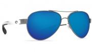 Costa Del Mar Loreto Sunglasses Gunmetal with Crystal Temples