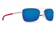 Costa Del Mar Palapa Sunglasses Palladium with Crystal Red Temples