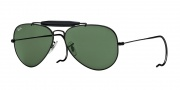 Ray-Ban RB3030 Sunglasses Outdoorsman Sunglasses - L9500 Black / Crystal Green