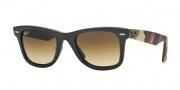 Ray Ban 2140 Sunglasses Original Wayfarer RB2140 Sunglasses - 606285 Matte Military Green / Brown Gradient Lens