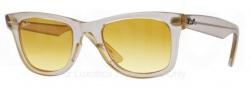 Ray Ban 2140 Sunglasses Original Wayfarer RB2140 Sunglasses - 6059X4 Demi Gloss Beige / Yellow Gradient Brown Photo