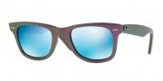 Ray Ban 2140 Sunglasses Original Wayfarer RB2140 Sunglasses - 611217 Metallic Violet / Grey Mirror Blue Lens