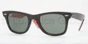 Ray Ban 2140 Sunglasses Original Wayfarer RB2140 Sunglasses - 1016 Black Red White/Green Grey