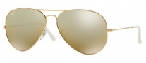 Ray-Ban RB3025 Sunglasses Large Metal 55 size Sunglasses - 001/3K Gold / Cry. Brown Mirror Silver Grad