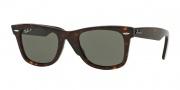 Ray Ban 2140 Sunglasses Polarized Sunglasses - 902/58 Tortoise / Crystal Green Polarized