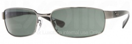 Ray-Ban RB3364 Sunglasses Sunglasses - (004) Gunmetal/Crystal Green