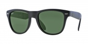 Ray-Ban RB4105 Sunglasses Folding Wayfarer Sunglasses - 601S Matte Black / Crystal Green
