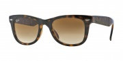 Ray-Ban RB4105 Sunglasses Folding Wayfarer Sunglasses - 710/51 Light Havana / Crystal Brown Gradient