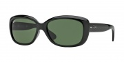 Ray-Ban RB4101 Sunglasses Jackie Ohh Sunglasses - 601 Black/Crystal Green