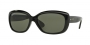 Ray-Ban RB4101 Sunglasses Jackie Ohh Sunglasses - 601/58 Black Crystal / Green Polarized