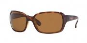 Ray-Ban RB4068 Sunglasses Sunglasses - 642/57 Havana / Crystal Brown Polarized