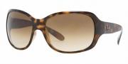 Ray-Ban RB4118 Sunglasses Sunglasses - (710-51) Light Havana/Crystal Brown/Gradient