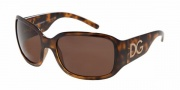 Dolce & Gabbana/ DG 6041 Sunglasses - (502-33) Havana/Crystal Brown