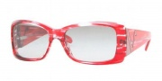 Vogue 2560 Sunglasses - (164411) Striped Red/Gray Gradient