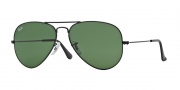 Ray Ban RB3025 Sunglasses Large Metal 58 Size Sunglasses - L2823 Black / Crystal Green