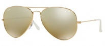 Ray Ban RB3025 Sunglasses Large Metal 58 Size Sunglasses - 001/3K Arista / Crystal Brown Mirror Silver Gradient