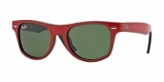 Ray-Ban Junior RJ9035S Sunglasses Sunglasses - 162/71 Top Red on Black / Green Lens