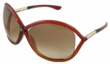 Tom Ford FT0009 Whitney  Sunglasses - 68F Havana Orange/ Shaded Brown Lens