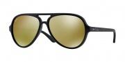 Ray Ban 4125 Sunglasses CATS 5000  Sunglasses - 601S93 Matte Black / Brown Mirror Gold