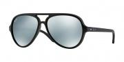 Ray Ban 4125 Sunglasses CATS 5000  Sunglasses - 601S30 Matte Black / Green Mirror Silver