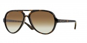 Ray Ban 4125 Sunglasses CATS 5000  Sunglasses - 710/51 Light Havana/Crystal Brown Gradient
