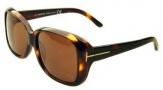 Tom Ford 119 Alissa Sunglasses - (52E) Soft Dark Havana Frame - Brown