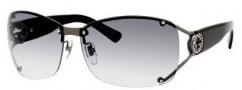 Gucci 2820/F/S Sunglasses Sunglasses - 0KJ1 Shiny Dark Ruthenium (ZR gray gradient lens)