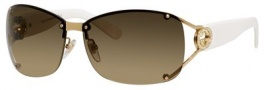 Gucci 2820/F/S Sunglasses Sunglasses - 0BQB Gold (ED brown gradient lens)