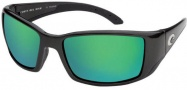 Costa Del Mar Blackfin - Matte Black Frame Sunglasses - Green Mirror / 400G