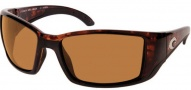 Costa Del Mar Blackfin Sunglasses Tortoise Frame Sunglasses - Dark Amber / 400G