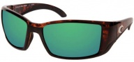 Costa Del Mar Blackfin Sunglasses Tortoise Frame Sunglasses - Green Mirror / 580G