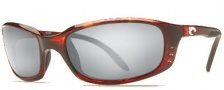 Costa Del Mar Brine Sunglasses Shiny Tortoise Frame Sunglasses - Grey Glass/COSTA 580
