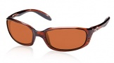 Costa Del Mar Brine Sunglasses Shiny Tortoise Frame Sunglasses - Copper / 580P