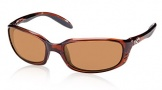 Costa Del Mar Brine Sunglasses Shiny Tortoise Frame Sunglasses - Amber Glass/COSTA 400