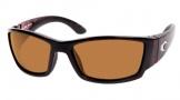 Costa Del Mar Corbina Shiny Tortoise Frame Sunglasses - Amber / 580P