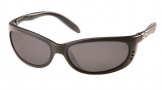 Costa Del Mar Fathom Sunglasses Matte Black Frame Sunglasses - Green Mirror / 400G