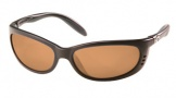 Costa Del Mar Fathom Sunglasses Matte Black Frame Sunglasses - Amber / 580P