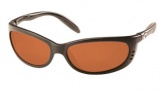 Costa Del Mar Fathom Sunglasses Matte Black Frame Sunglasses - Copper / 580P