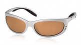 Costa Del Mar Fathom Sunglasses Silver Frame Sunglasses - Amber / 580P