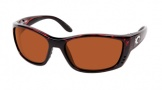 Costa Del Mar Fisch Sunglasses Shiny Tortoise Frame Sunglasses - Blue Mirror / 400G