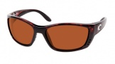 Costa Del Mar Fisch Sunglasses Shiny Tortoise Frame Sunglasses - Copper / 580P
