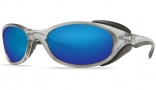Costa Del Mar Frigate Sunglasses Silver Frame Sunglasses - Green Mirror / 400G