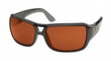 Costa Del Mar Gallo - Shiny Black Frame Sunglasses - Copper Glass/COSTA 580