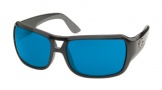 Costa Del Mar Gallo - Shiny Black Frame Sunglasses - Blue Mirror Glass/COSTA 580