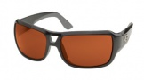 Costa Del Mar Gallo - Shiny Black Frame Sunglasses - Vermillion Glass/COSTA 400