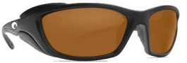 Costa Del Mar Man o War Sunglasses - Black Frame Sunglasses - Amber / 580P