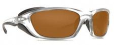 Costa Del Mar Man o War Sunglasses - Silver Frame Sunglasses - Dark Amber / 400G