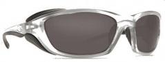 Costa Del Mar Man o War Sunglasses - Silver Frame Sunglasses - Gray / 580G
